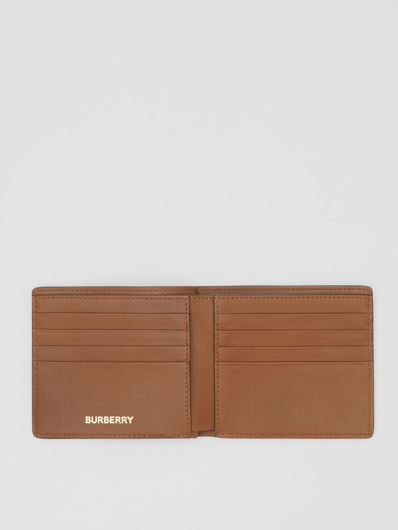 Monogram Print E-canvas International Bifold Wallet (Bridle Brown)