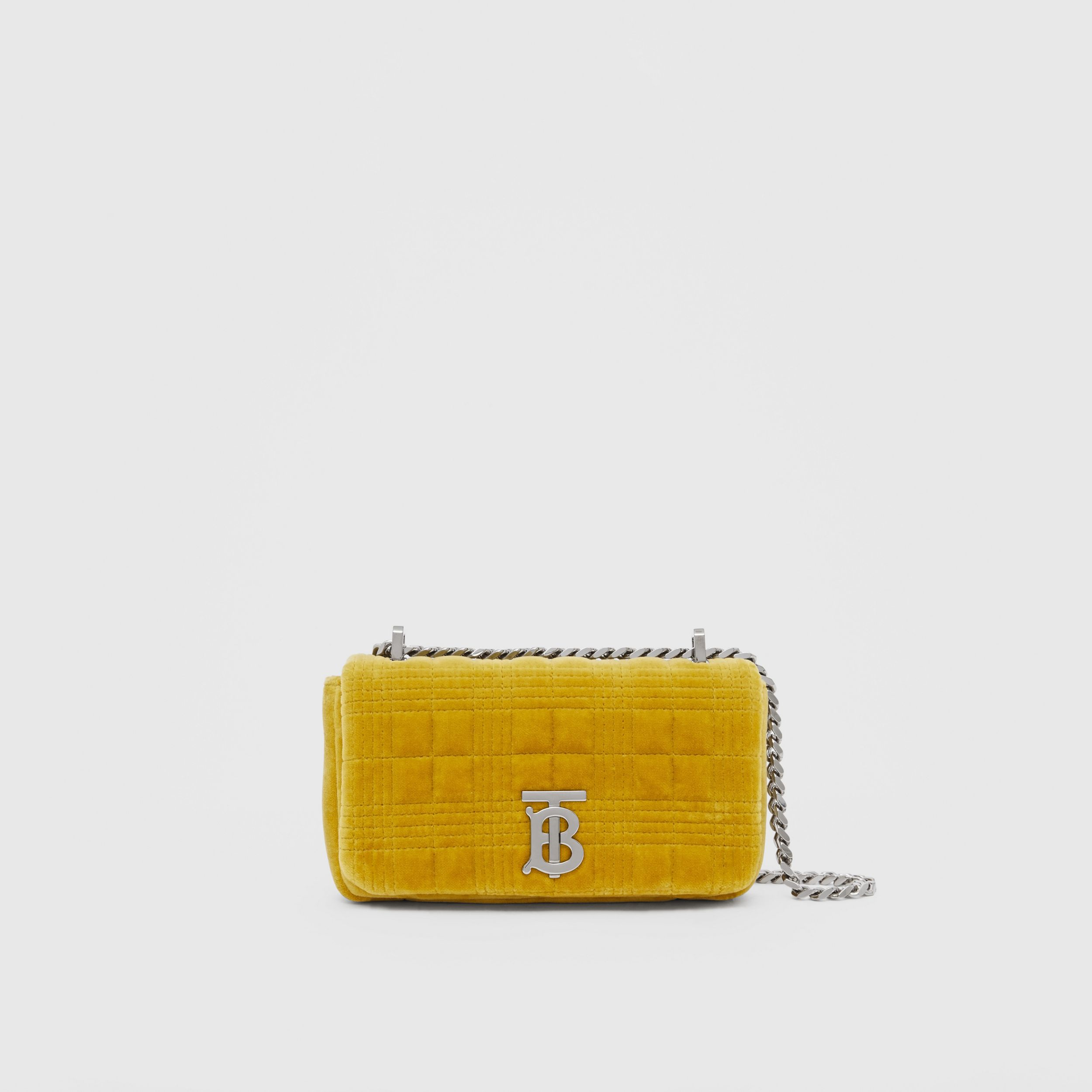 Mini Quilted Velvet Lola Bag in Fresh Moss Green - Women | Burberry - 1