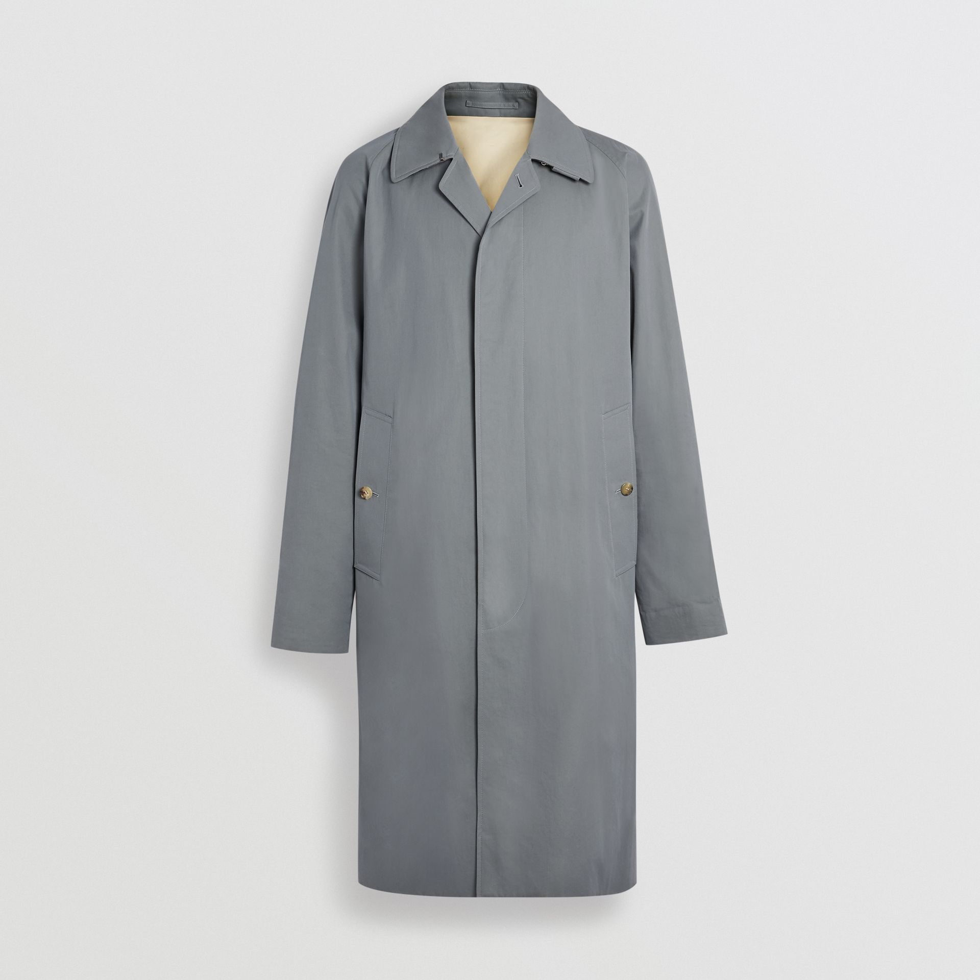 Tropical Gabardine Car Coat in Dusty Blue - Men | Burberry United Kingdom - gallery image 3