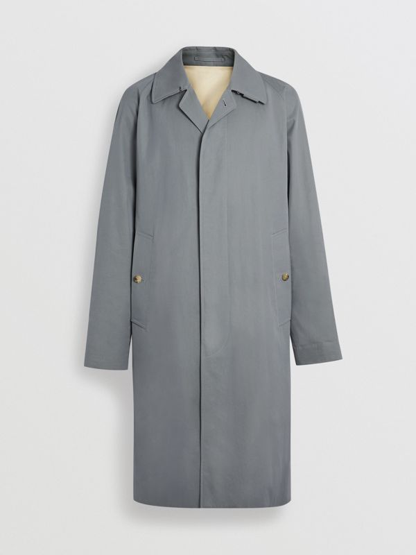 Tropical Gabardine Car Coat in Dusty Blue - Men | Burberry Australia - cell image 3