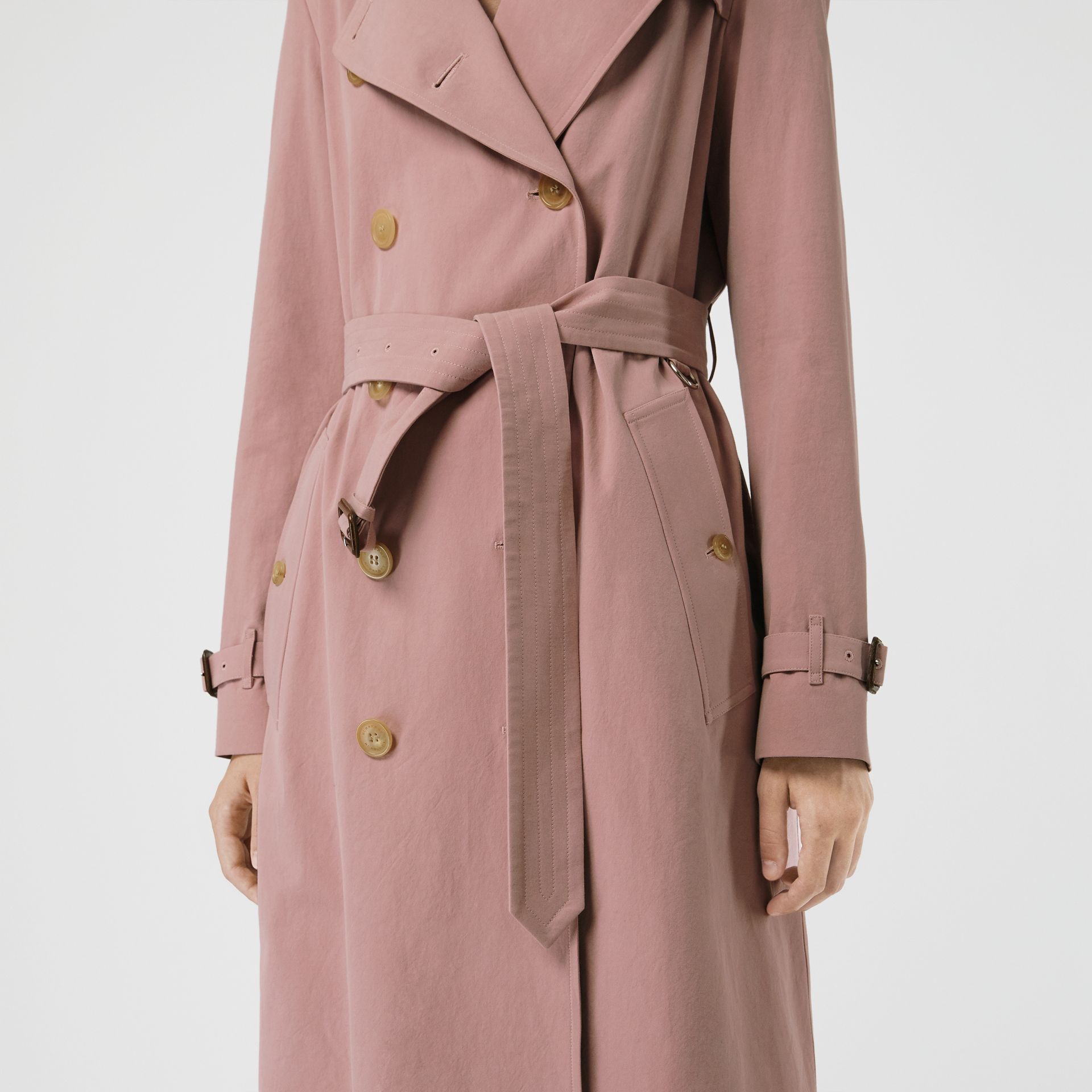 Tropical Gabardine Trench Coat in Chalk Pink - Women | Burberry - gallery image 4