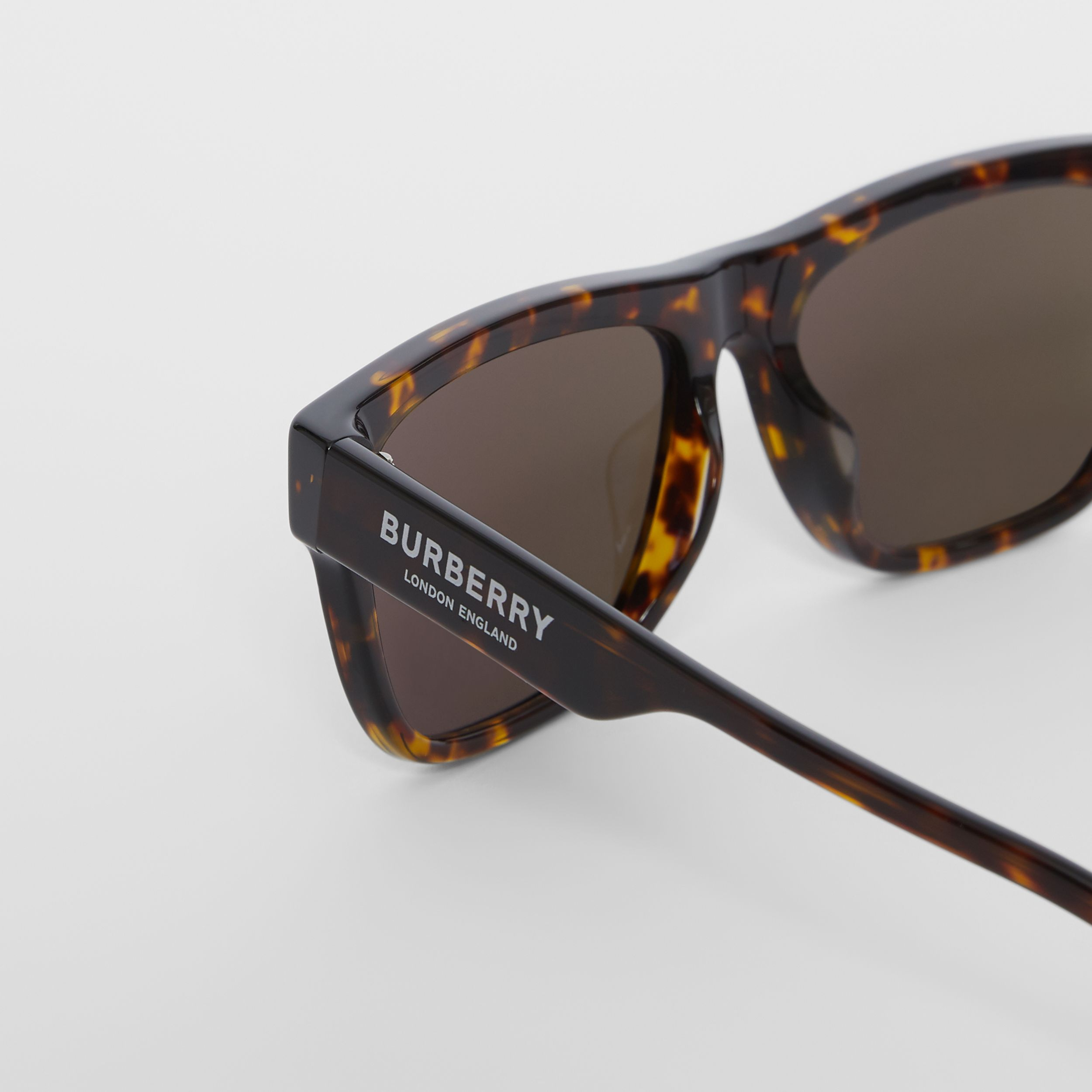 Square Frame Sunglasses in Tortoiseshell - Men | Burberry - 2