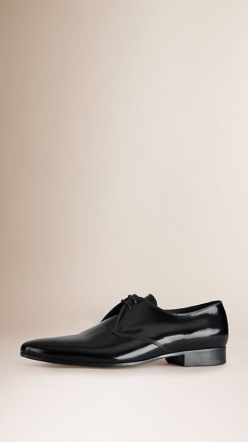 Black Polished Leather Ceremonial Shoes - Image 1
