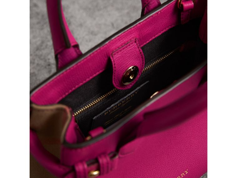 The Baby Banner in Leather and House Check in Brilliant Fuchsia - Women | Burberry - cell image 4