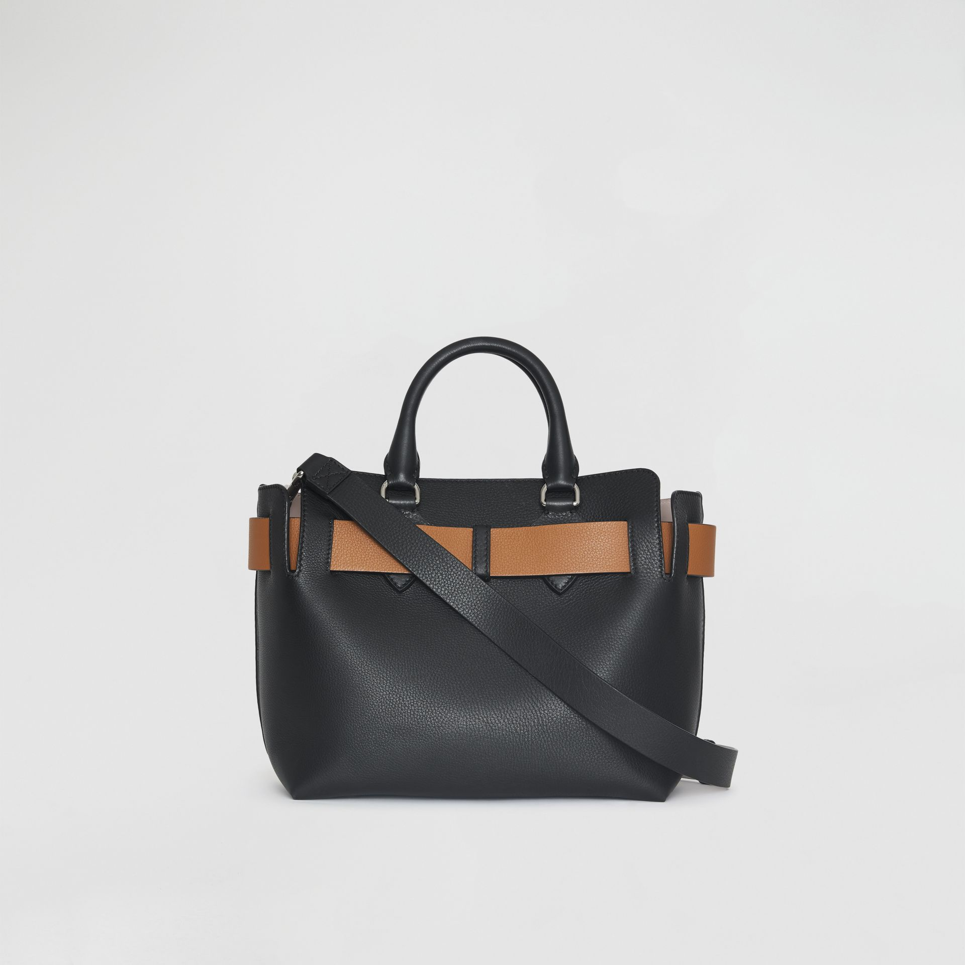 The Small Leather Belt Bag in Black - Women | Burberry Australia - gallery image 7