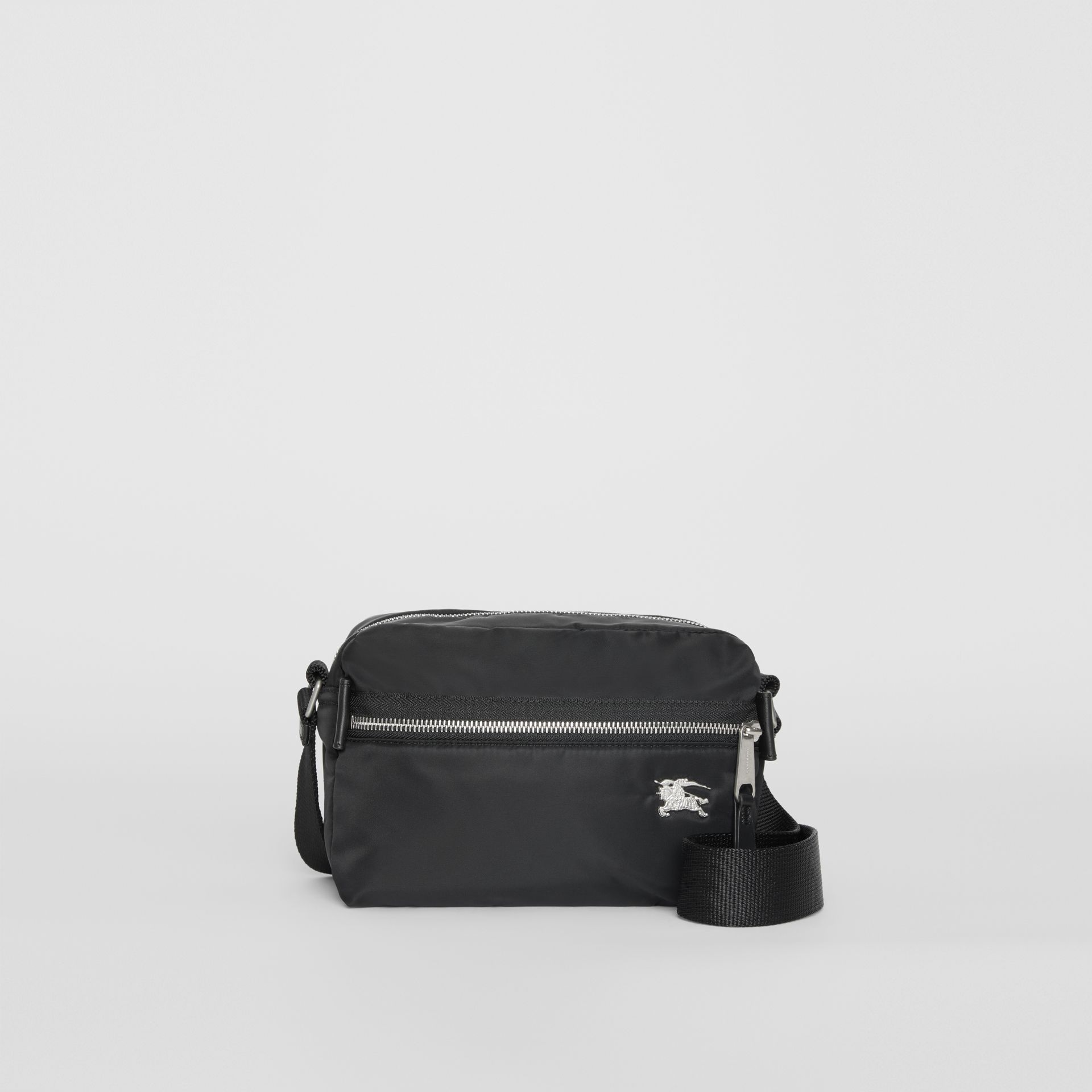 EKD Aviator Nylon and Leather Crossbody Bag in Black - Men | Burberry United Kingdom - gallery image 0