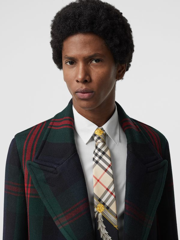 Modern Cut Archive Scarf Print Silk Tie in Dark Green - Men | Burberry United States - cell image 2