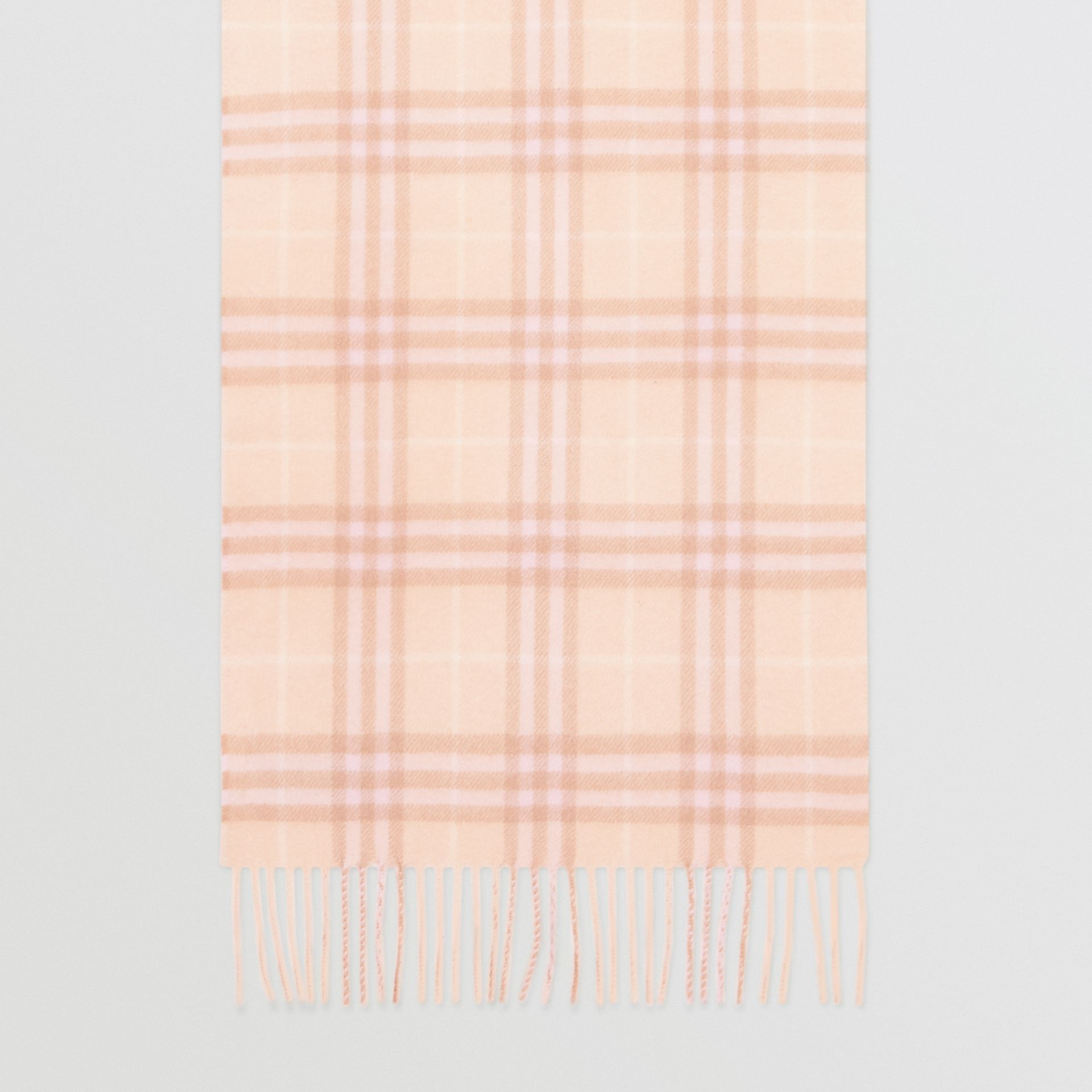 The Classic Vintage Check Cashmere Scarf in Dusty Pink | Burberry Australia - gallery image 3