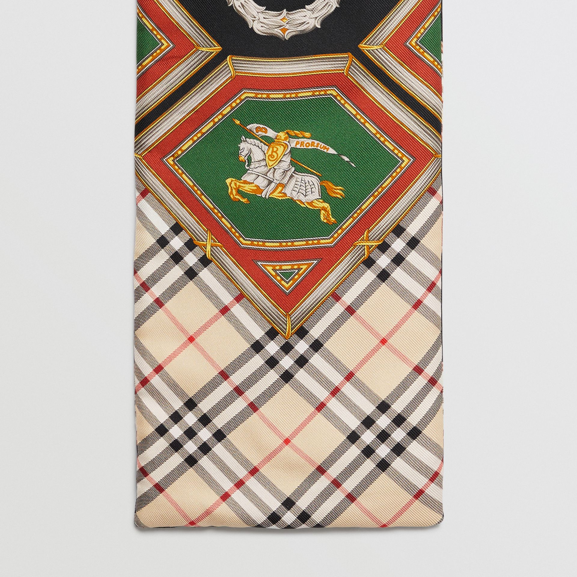 Archive Scarf Print Silk Puffer Scarf in Multicolour | Burberry United States - gallery image 0