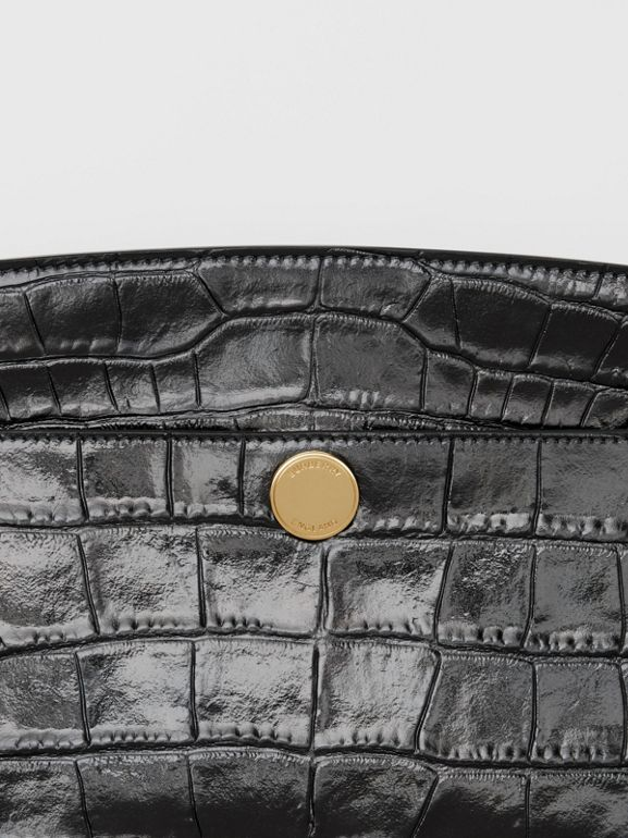 Embossed Leather Society Clutch in Black - Women | Burberry - cell image 1