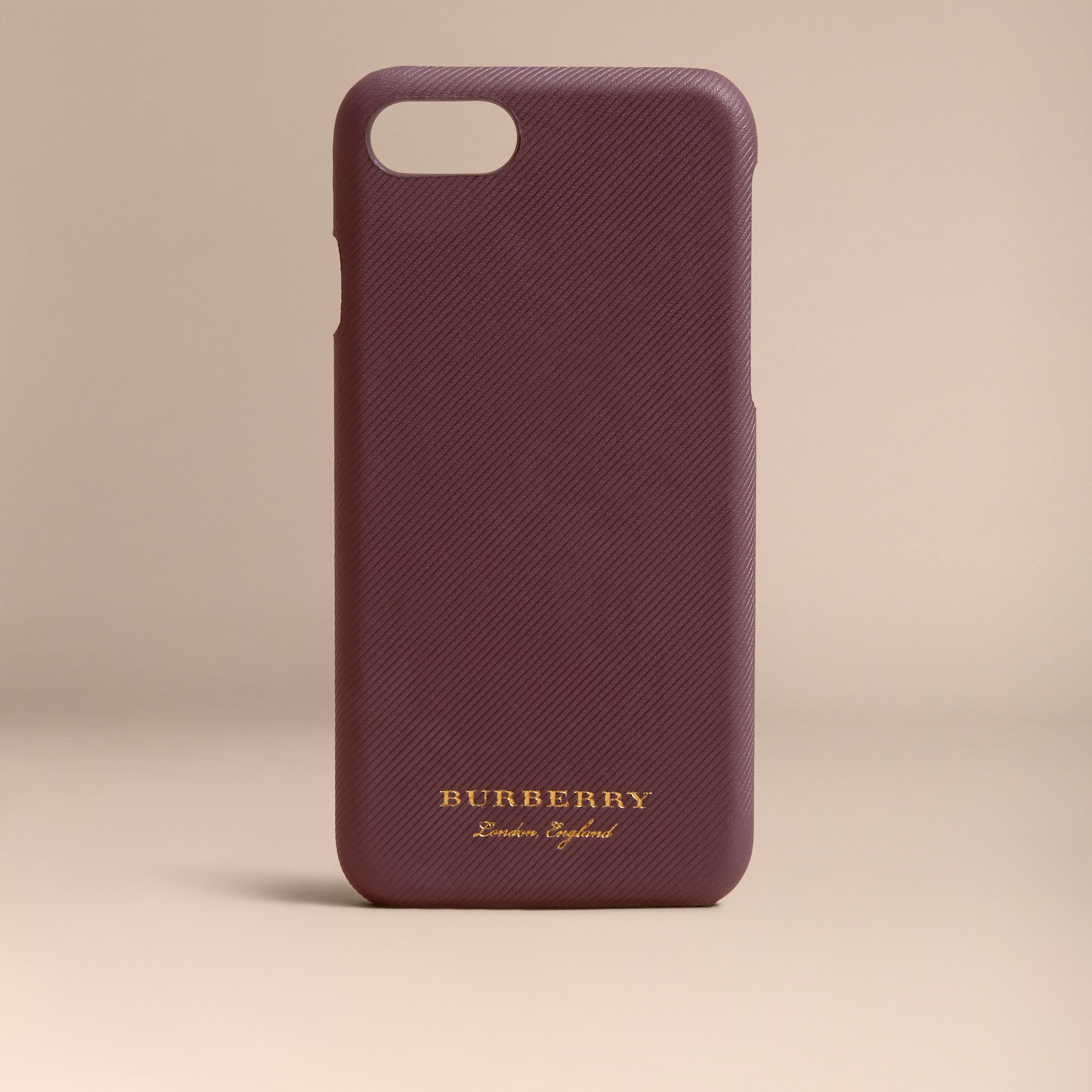 Trench Leather iPhone 7 Case in Wine | Burberry - gallery image 5