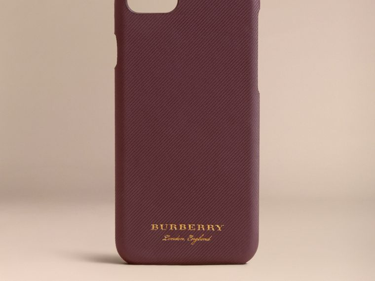 Trench Leather iPhone 7 Case in Wine | Burberry - cell image 4