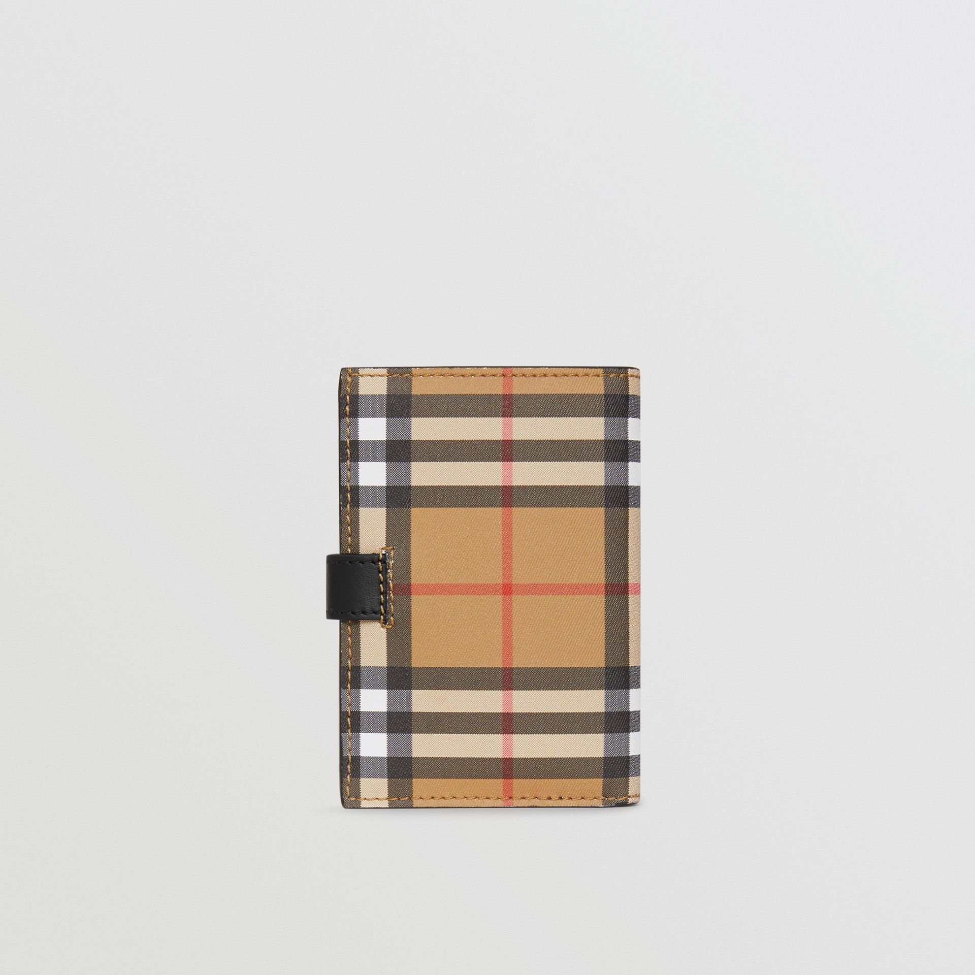 Vintage Check and Leather Folding Wallet in Black - Women | Burberry - gallery image 2