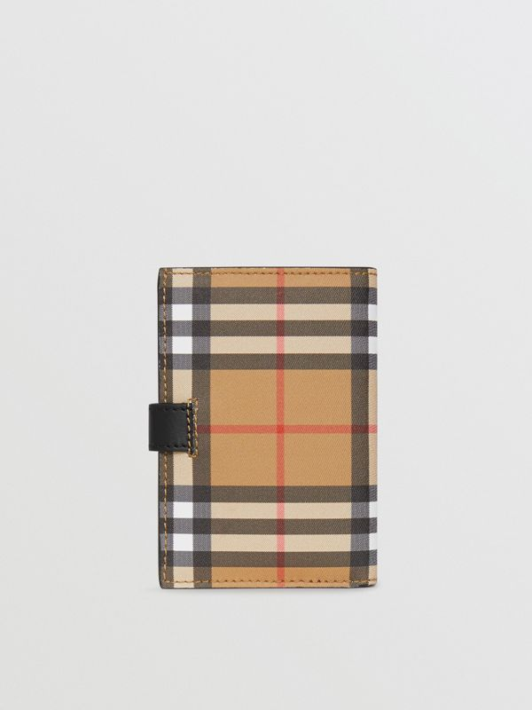 Vintage Check and Leather Folding Wallet in Black - Women | Burberry - cell image 2