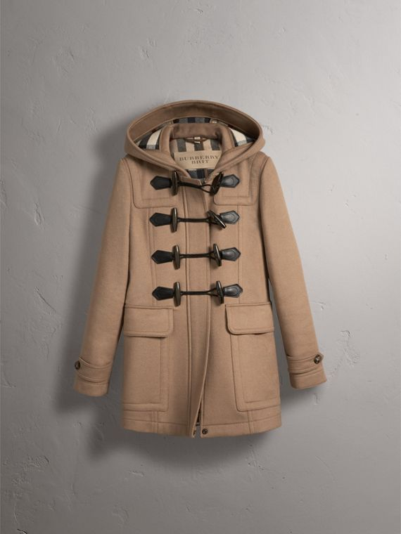 Fitted Wool Duffle Coat in New Camel - Women | Burberry Australia - cell image 3