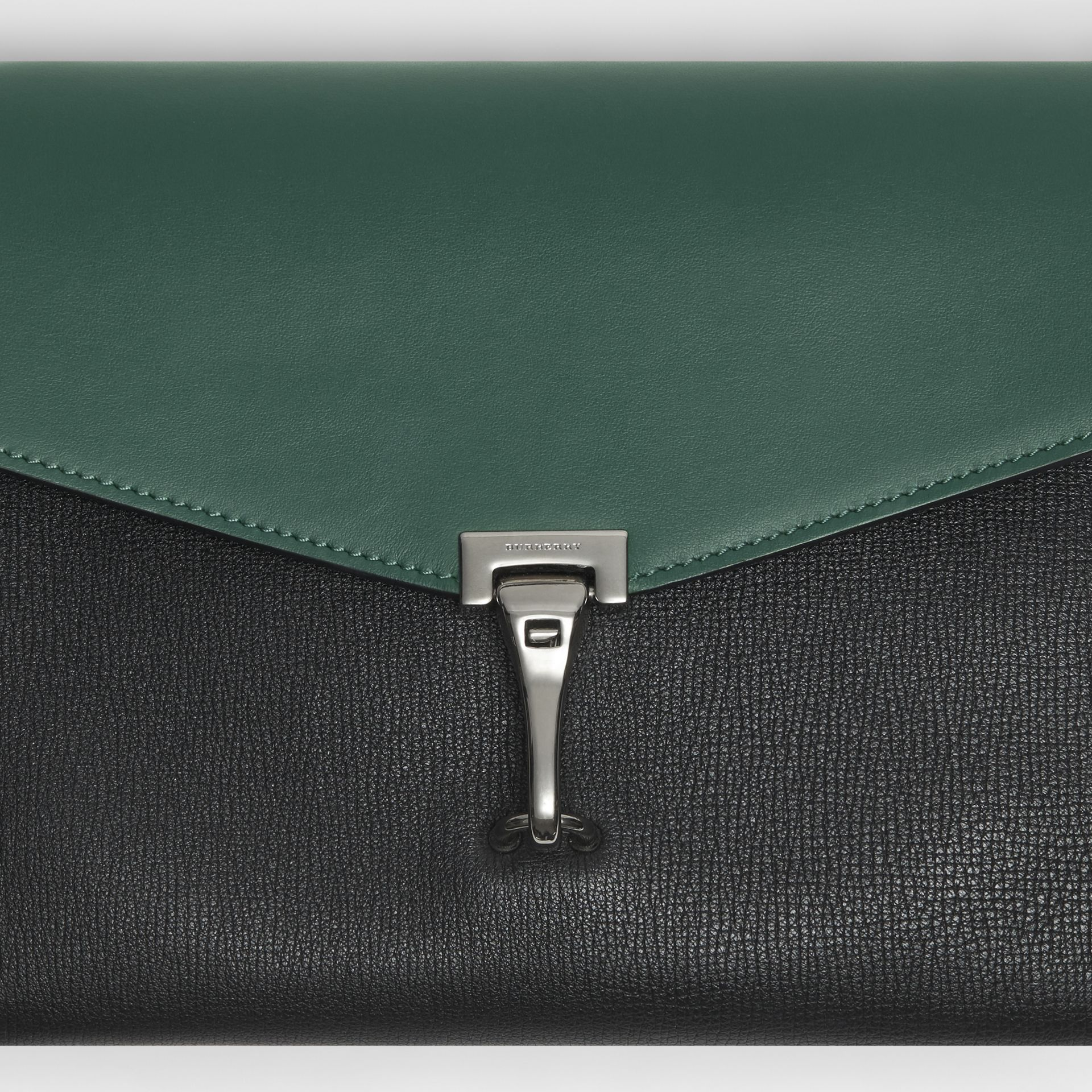 Two-tone Leather Crossbody Bag in Black/sea Green - Women | Burberry - gallery image 1