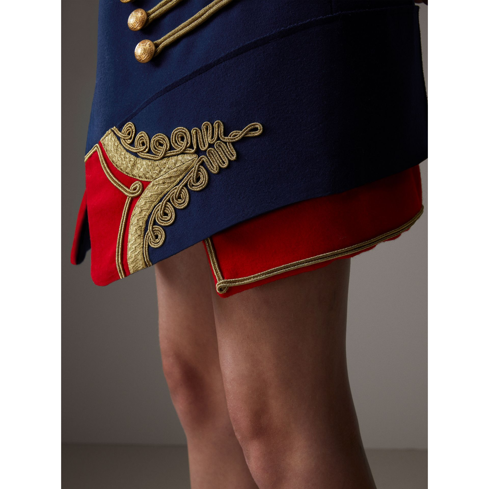 Regalia Detail Wool Ceremonial Skirt in Bright Navy - Women | Burberry - gallery image 1