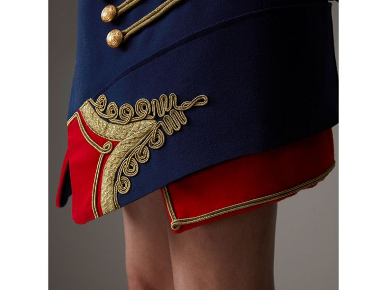 Regalia Detail Wool Ceremonial Skirt in Bright Navy - Women | Burberry - cell image 1