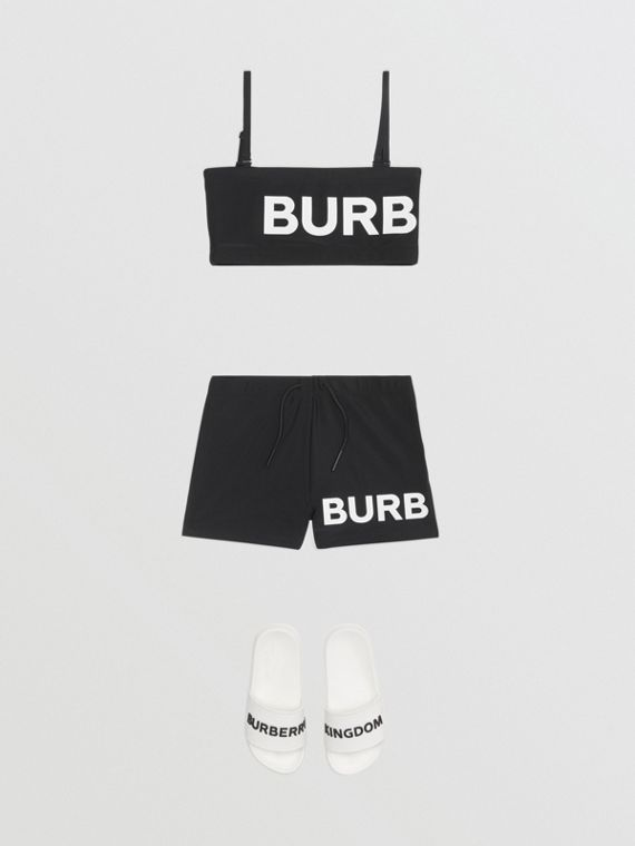 Bikini avec logo (Noir)