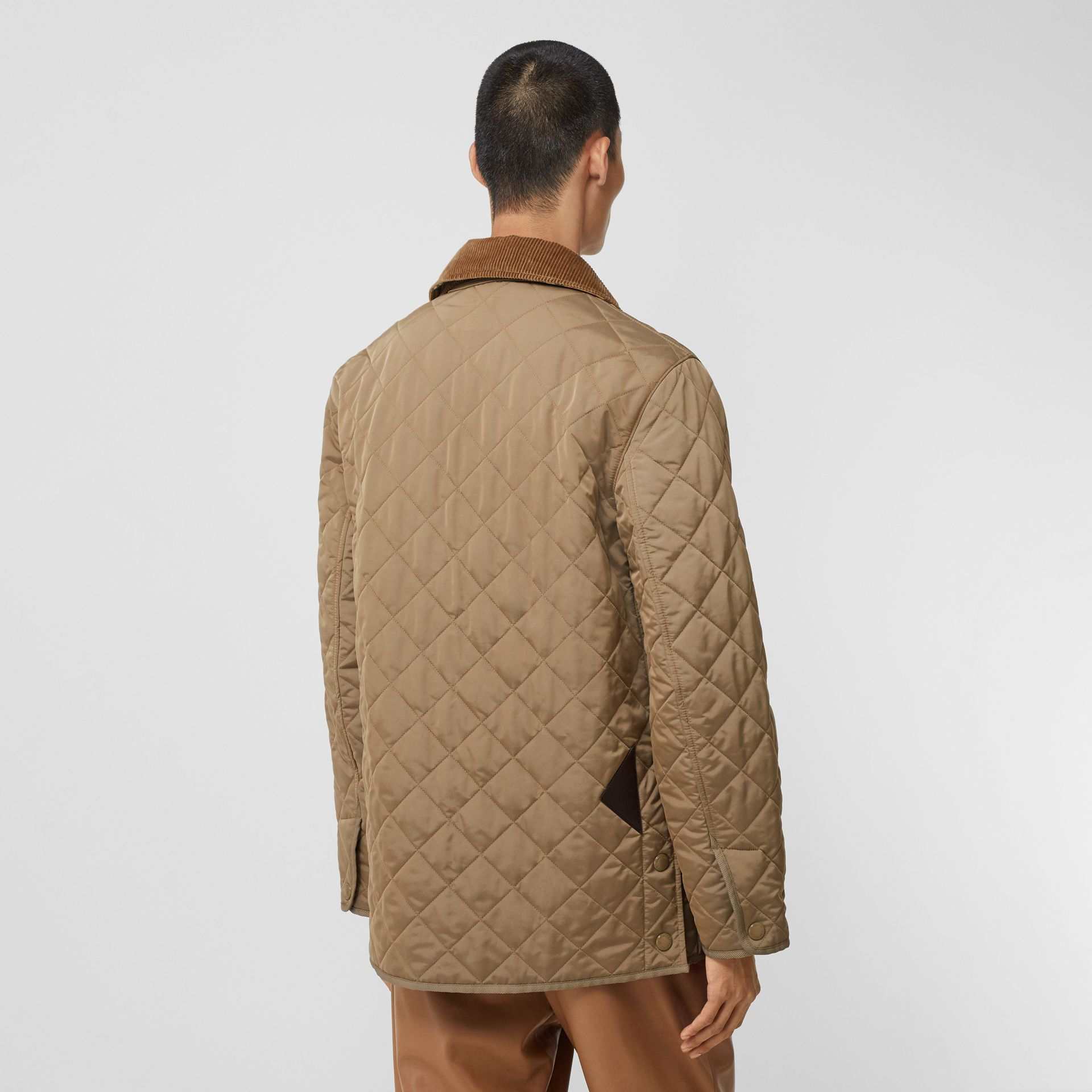Diamond Quilted Thermoregulated Barn Jacket in Pale Granite - Men | Burberry - gallery image 2