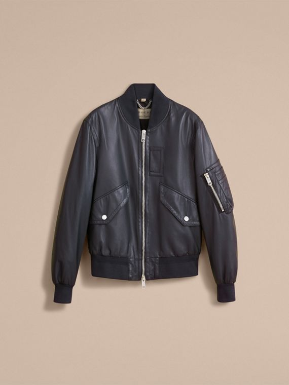 Lambskin Bomber Jacket - Men | Burberry - cell image 3