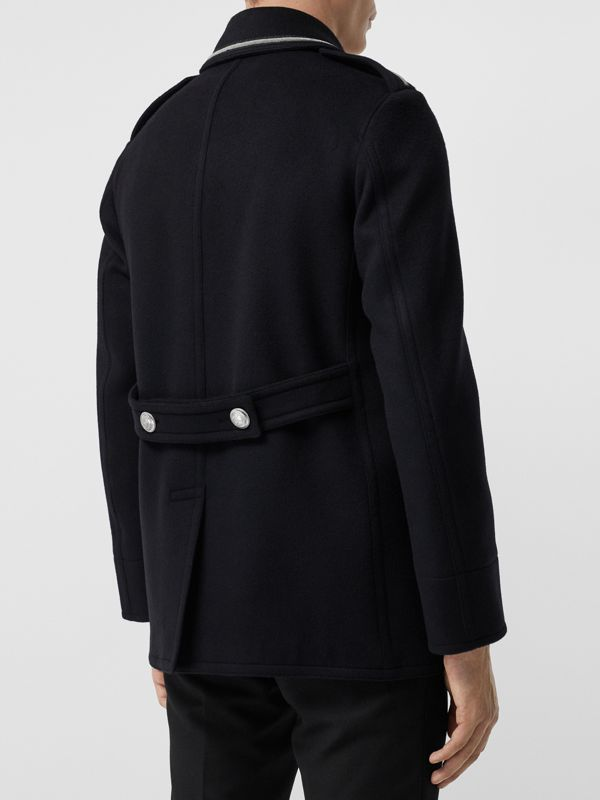 Bullion Wool Cashmere Pea Coat in Dark Navy - Men | Burberry Singapore - cell image 2