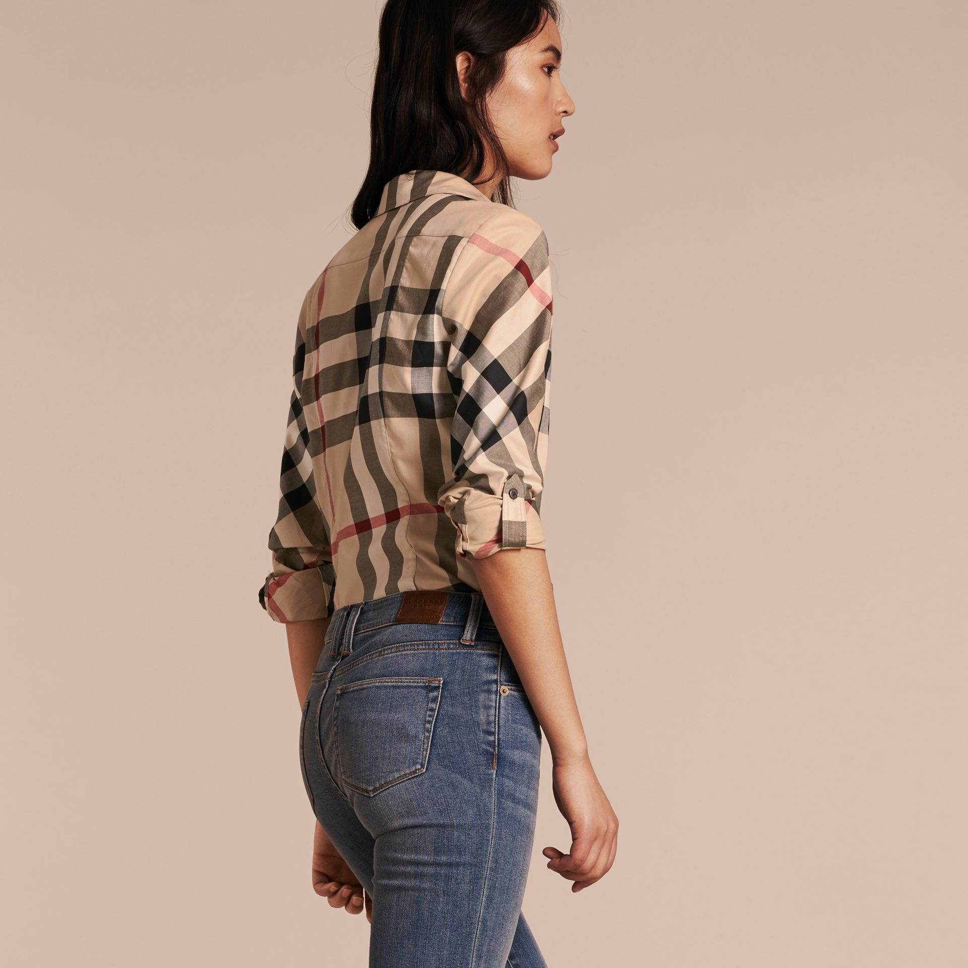Stretch-Cotton Check Shirt - gallery image 3