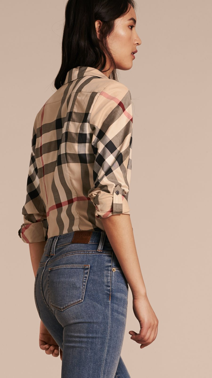 New classic check Stretch-Cotton Check Shirt - Image 3