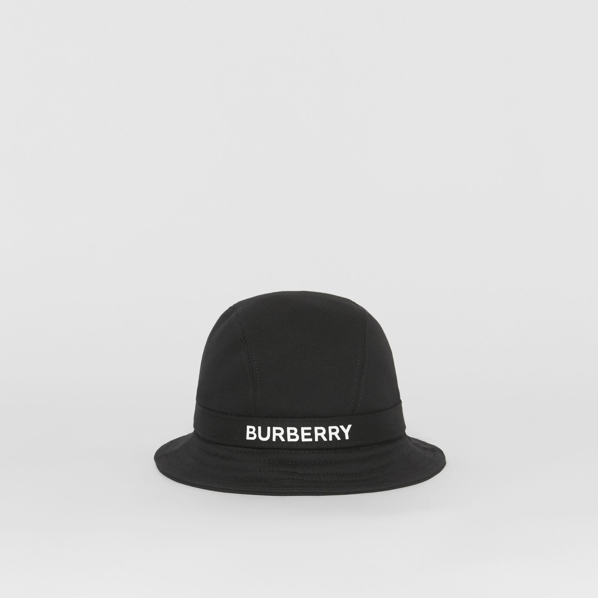Logo Detail Bucket Hat in Black | Burberry - gallery image 4