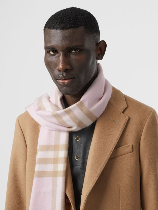 The Classic Check Cashmere Scarf in Alabaster | Burberry United Kingdom - cell image 3