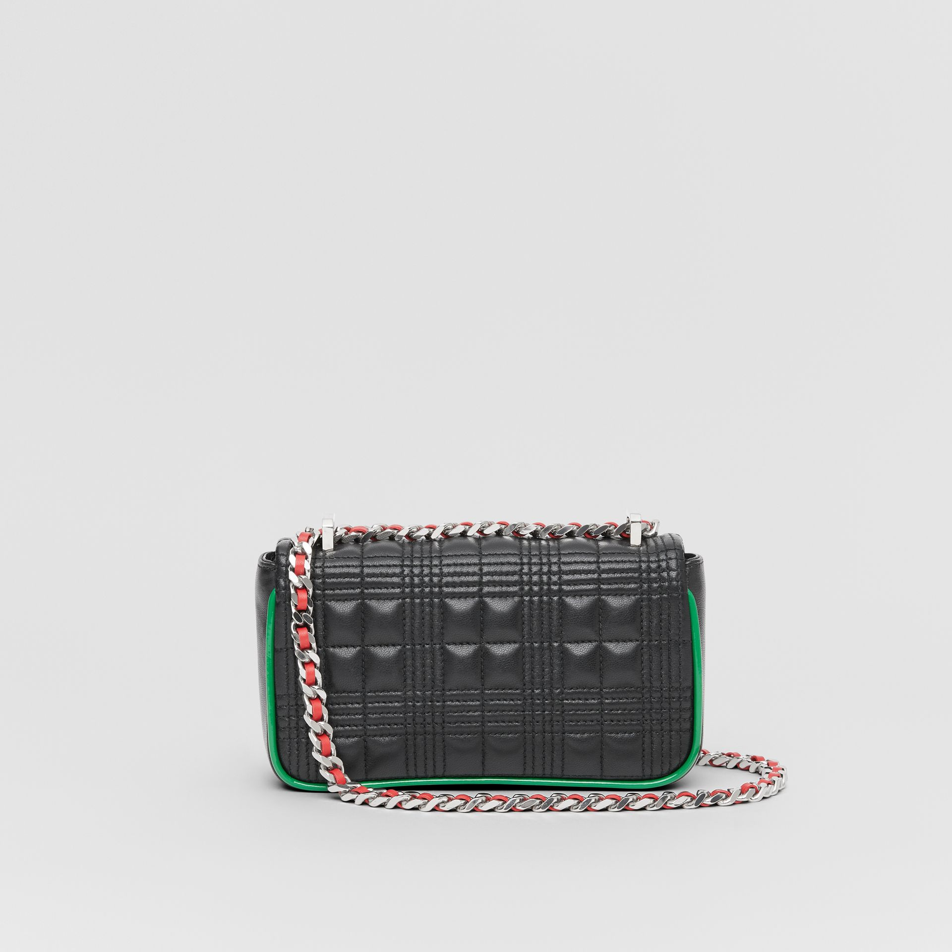 Mini Quilted Lambskin Lola Bag in Black - Women | Burberry United States - gallery image 7