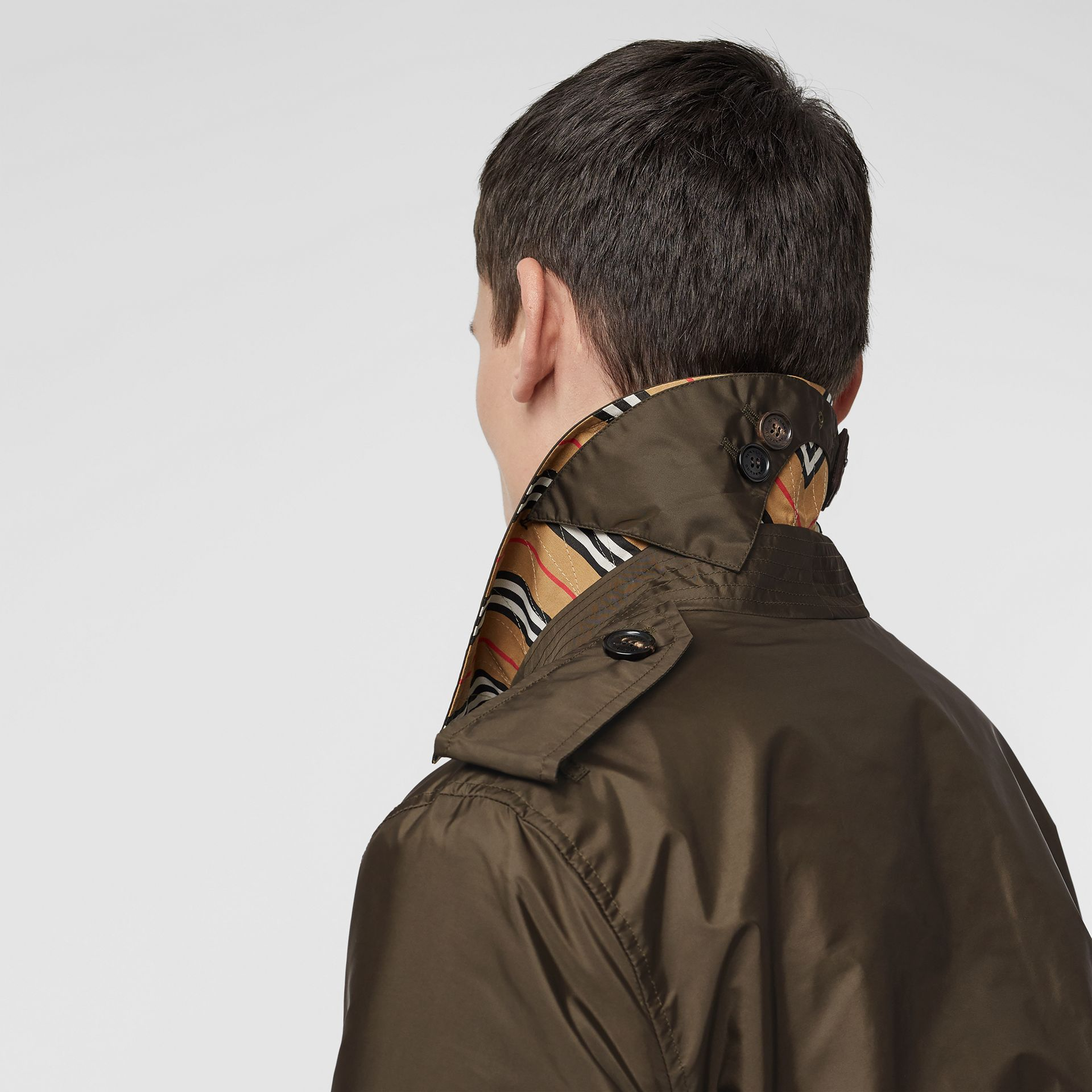 Lightweight Nylon Trench Coat in Military Green - Men | Burberry United Kingdom - gallery image 1