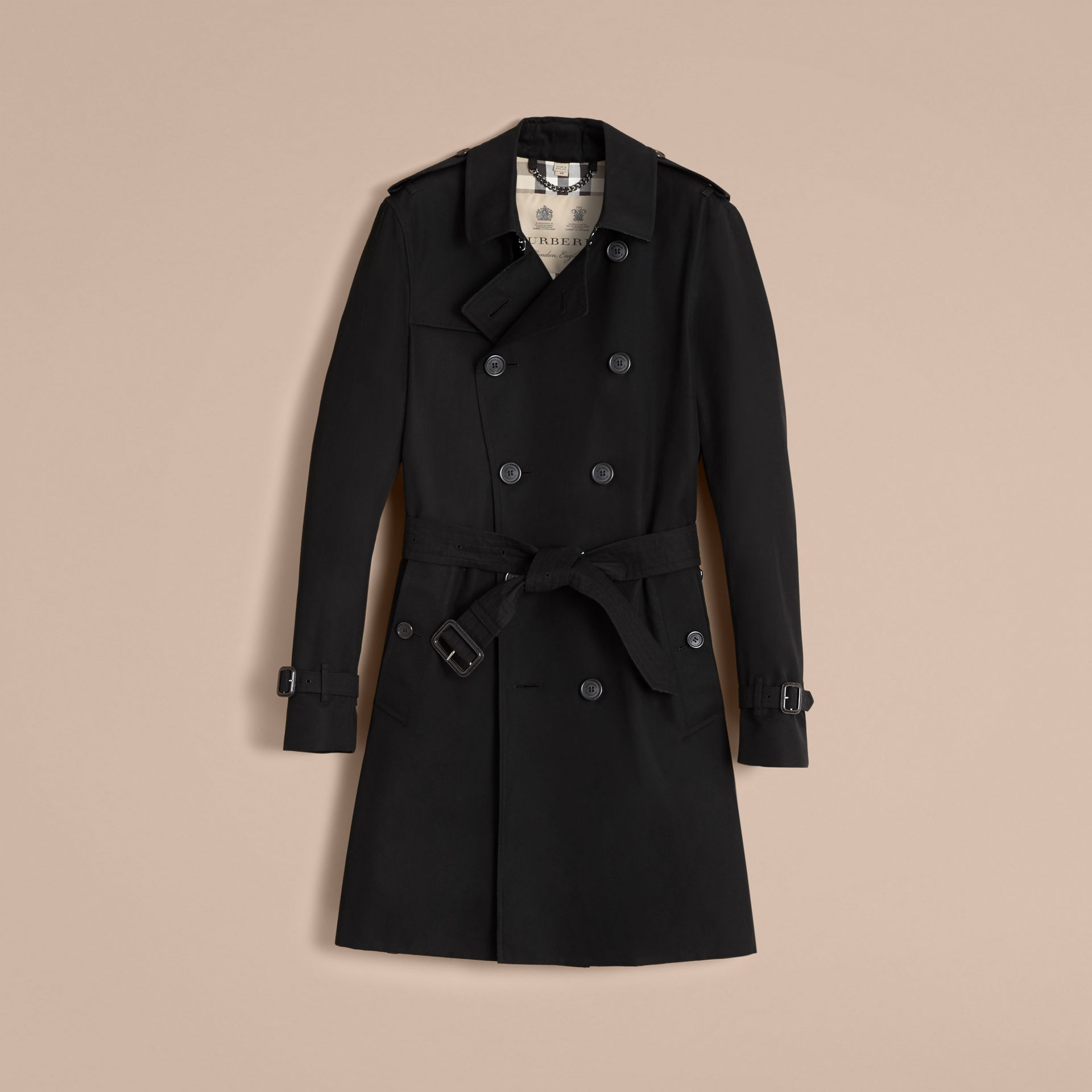 The Sandringham – Long Heritage Trench Coat in Black - gallery image 4