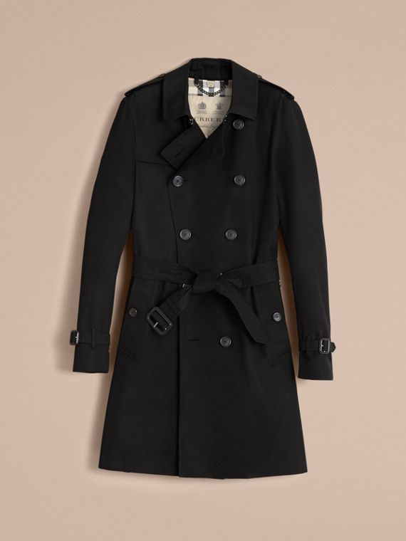 The Sandringham – Long Heritage Trench Coat in Black - cell image 3