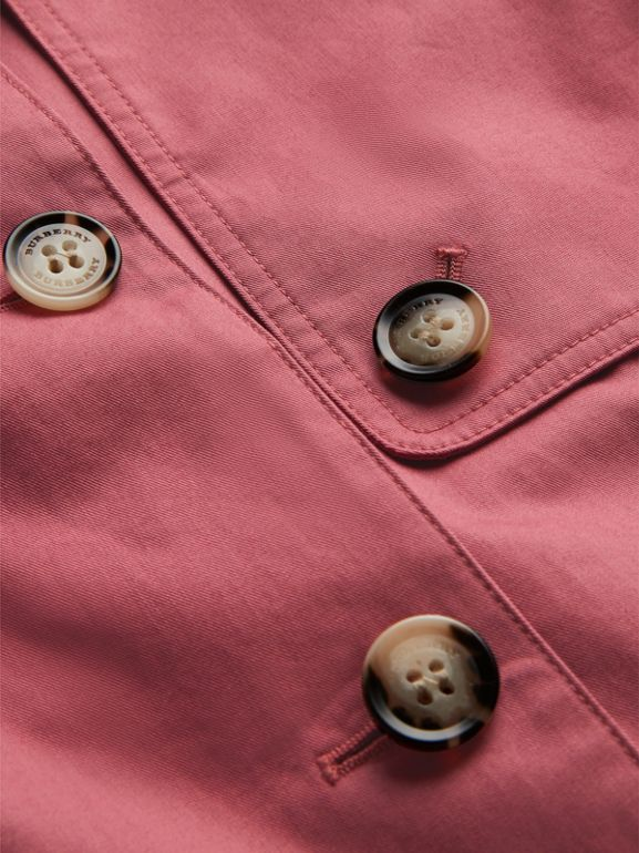 Showerproof Cotton Reconstructed Trench Coat in Rose Pink | Burberry Hong Kong - cell image 1