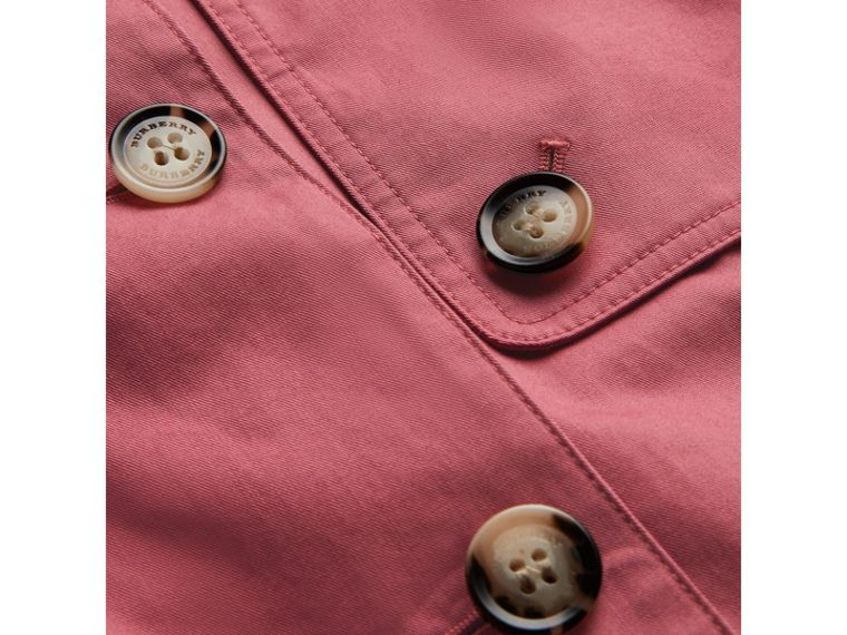 Showerproof Cotton Reconstructed Trench Coat in Rose Pink - Girl | Burberry Australia - cell image 1