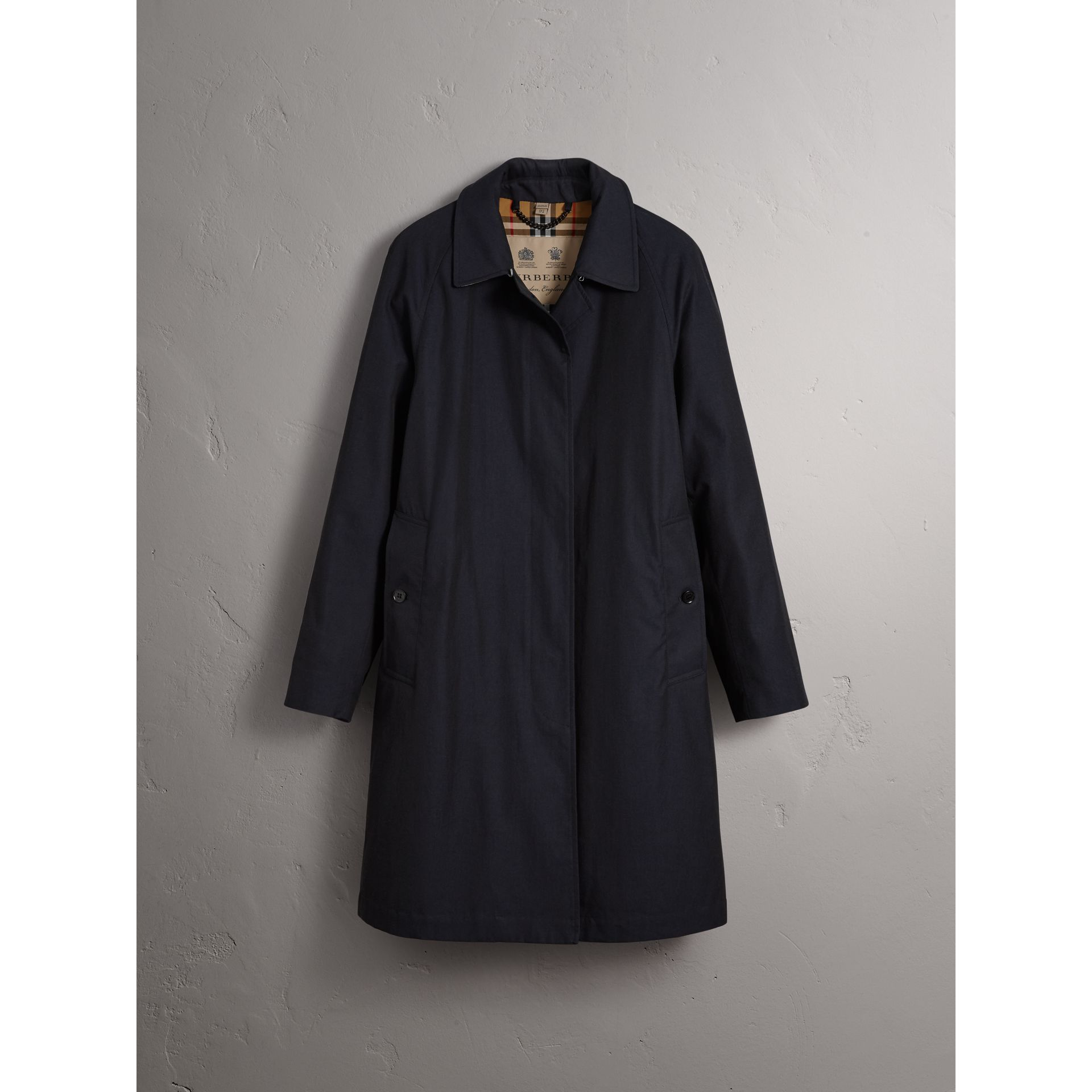 The Camden – Long Car Coat in Blue Carbon - Women | Burberry - gallery image 3