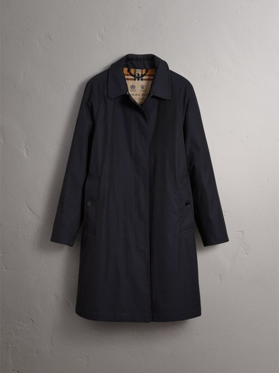 The Camden – Long Car Coat in Blue Carbon - Women | Burberry - cell image 3