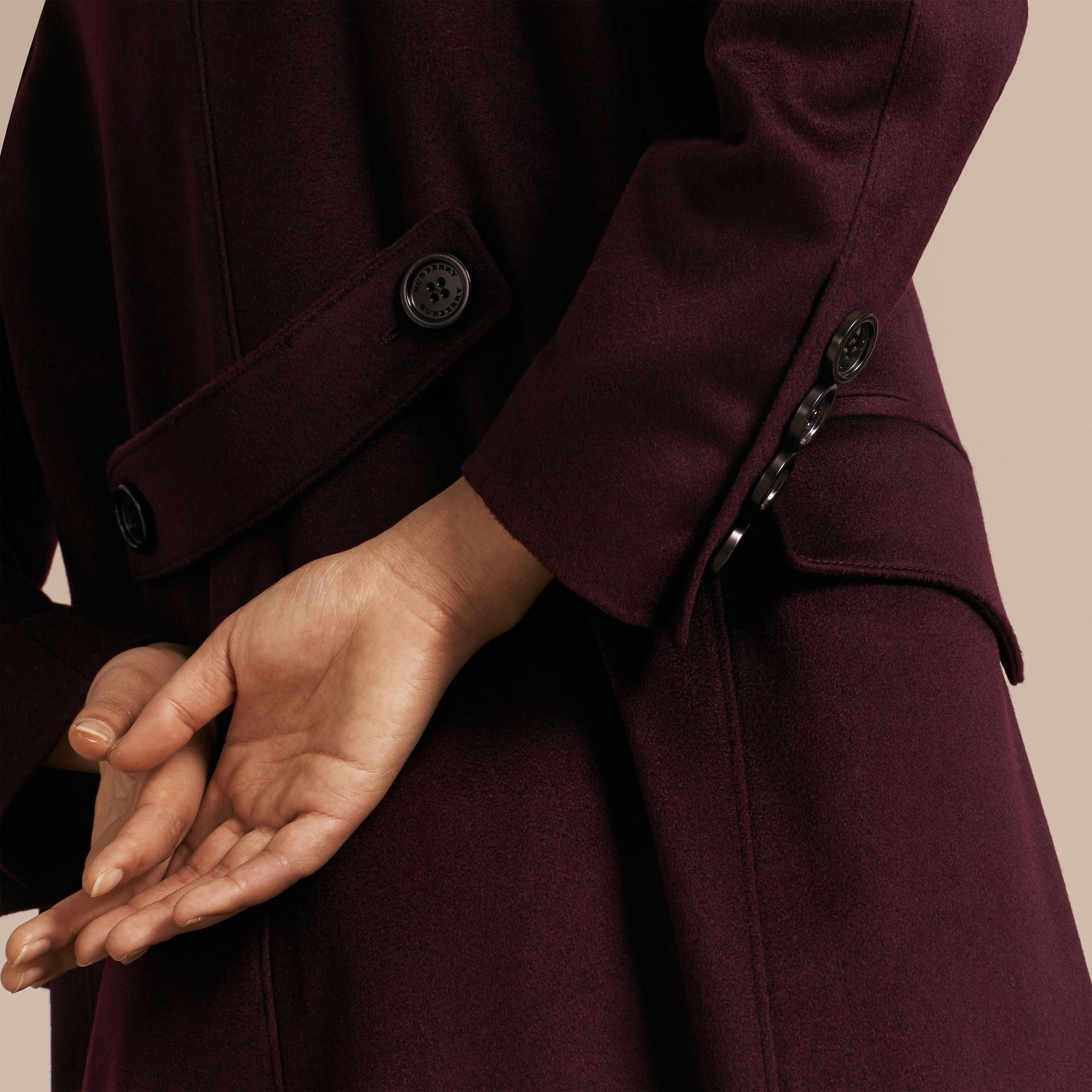 Dark elderberry Cashmere Tailored Coat Dark Elderberry - gallery image 5