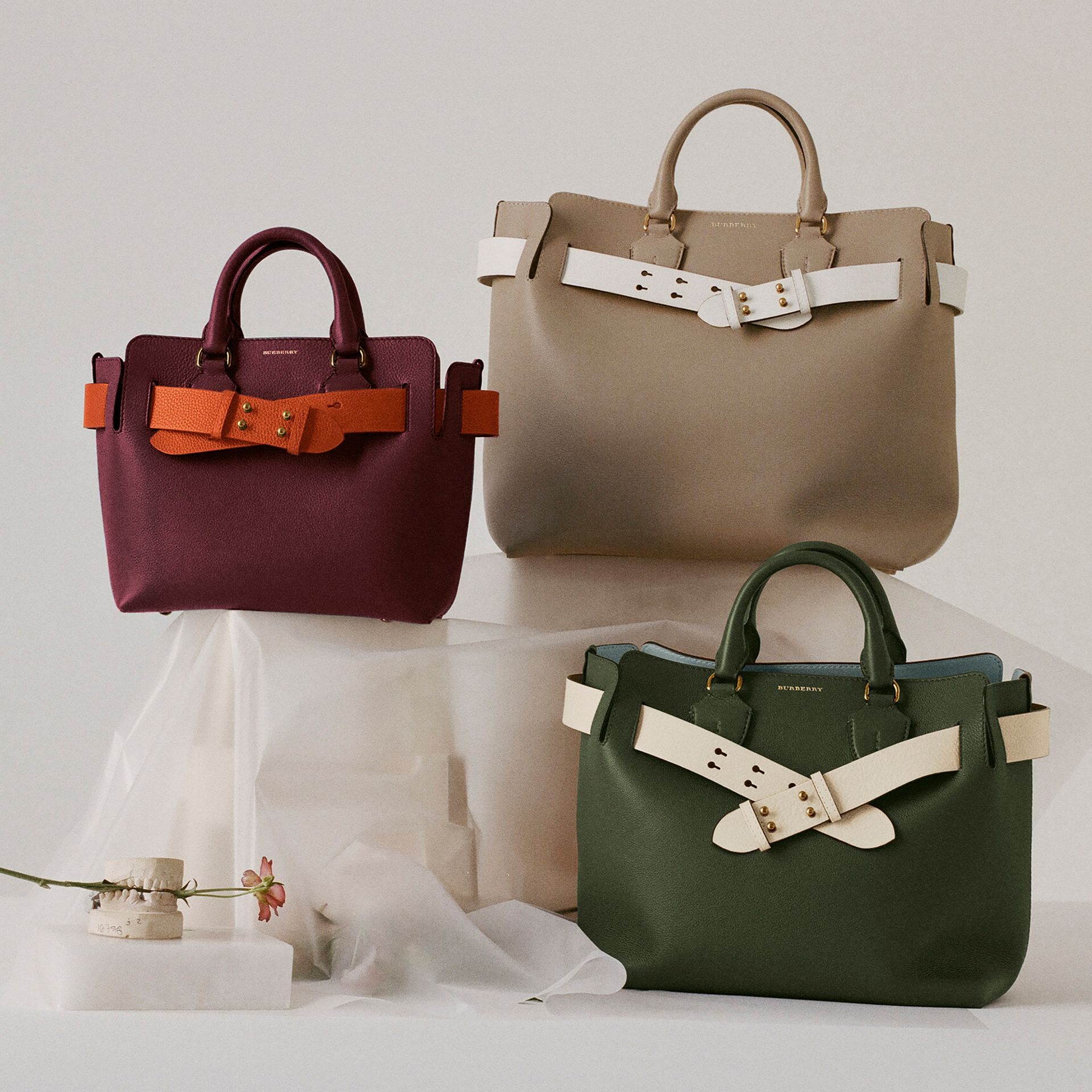 The Medium Leather Belt Bag in Sage Green - Women | Burberry Canada - gallery image 1