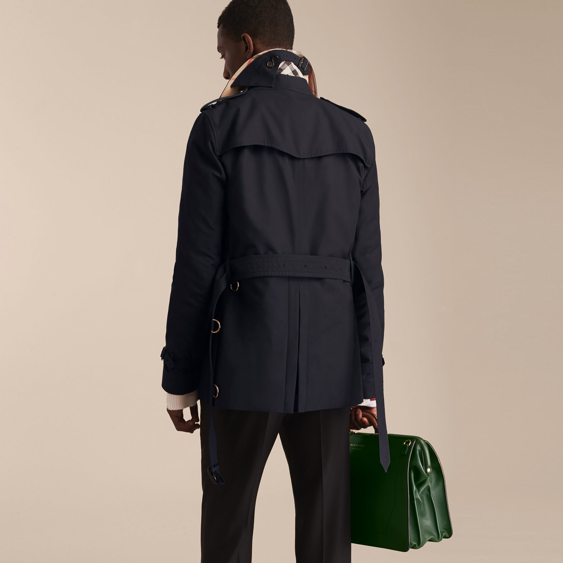 Navy The Kensington – Short Heritage Trench Coat Navy - gallery image 4
