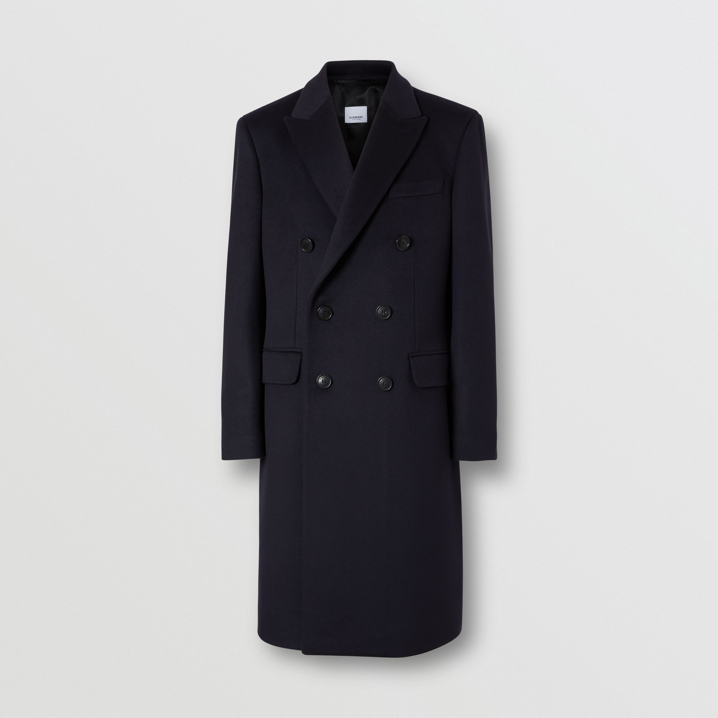 Wool Cashmere Tailored Coat in Navy - Men | Burberry - 4