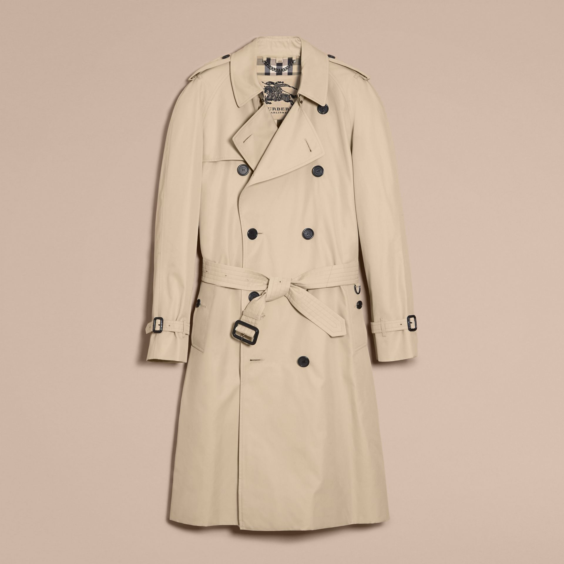 Stone The Westminster – Long Heritage Trench Coat Stone - gallery image 4