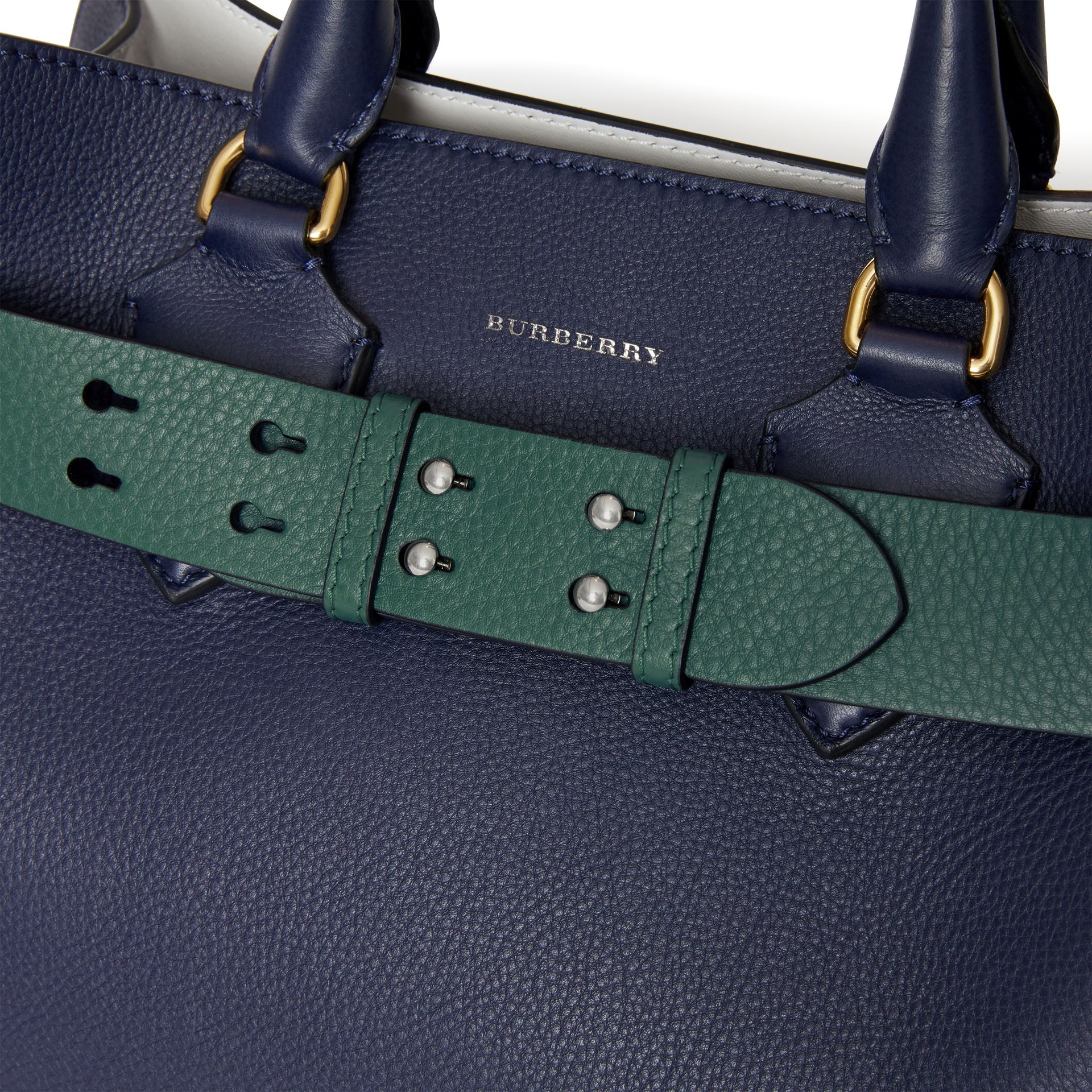 The Small Belt Bag Grainy Leather Belt in Sea Green - Women | Burberry - gallery image 1