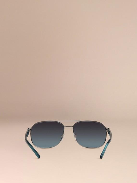 Blue Square Frame Aviator Polarised Sunglasses Blue - cell image 3
