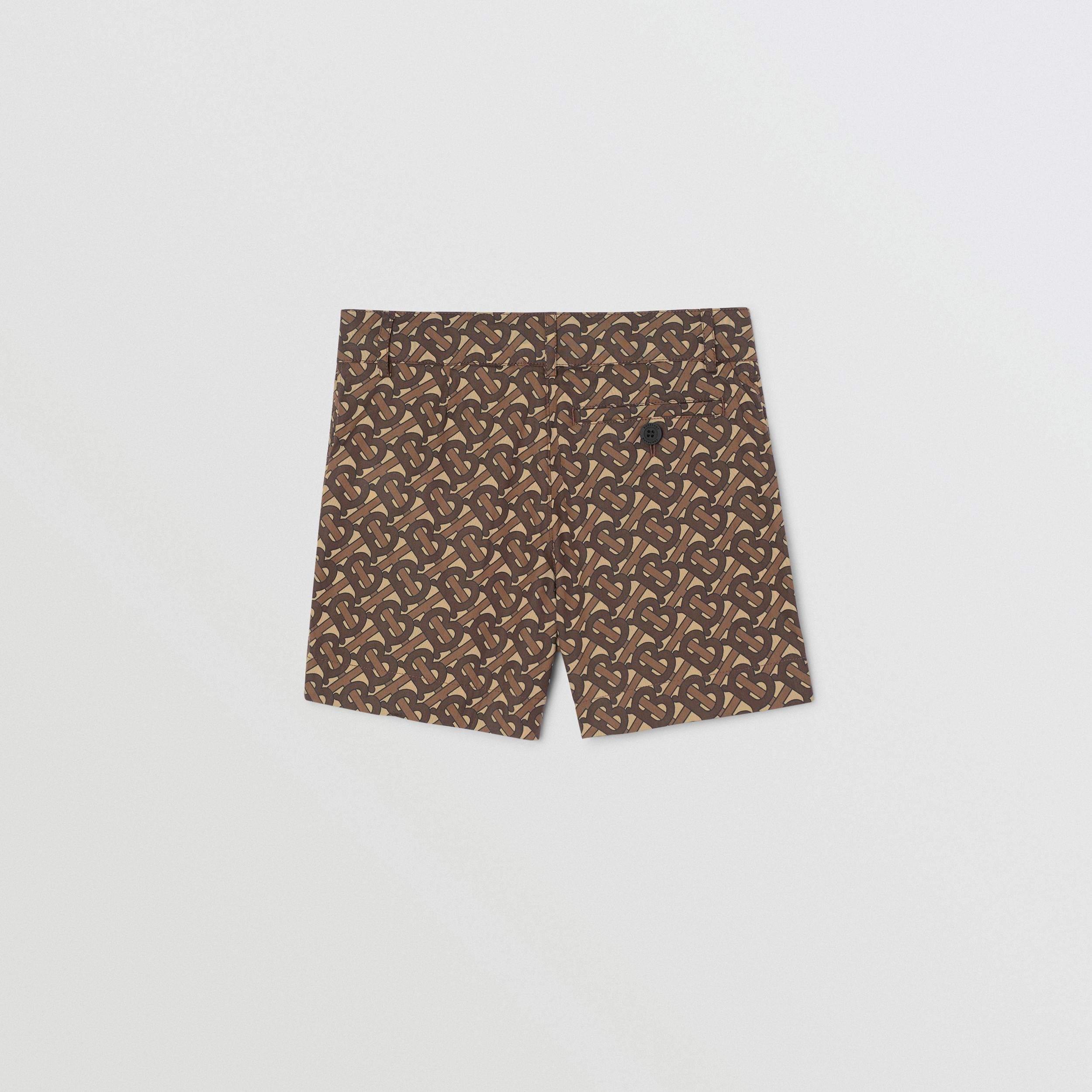 Monogram Print Cotton Tailored Shorts | Burberry - 4