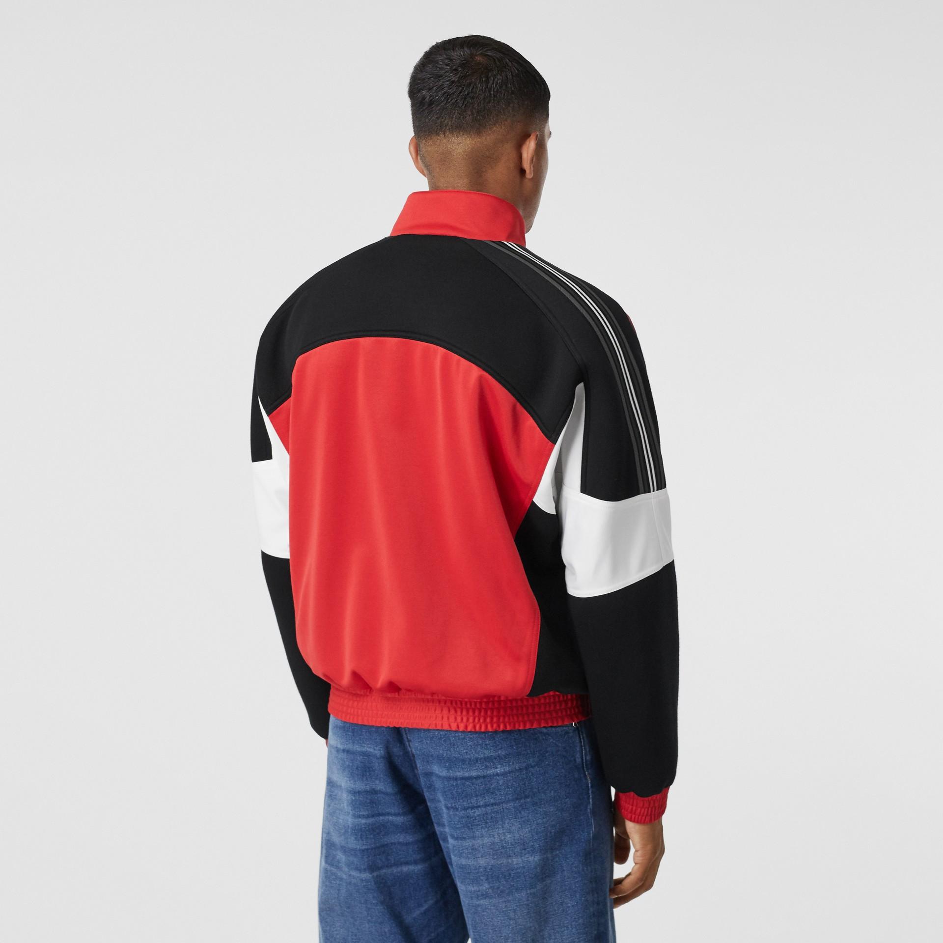 Veste de survêtement en jersey et néoprène avec logo appliqué (Rouge Vif) - Homme | Burberry - photo de la galerie 2