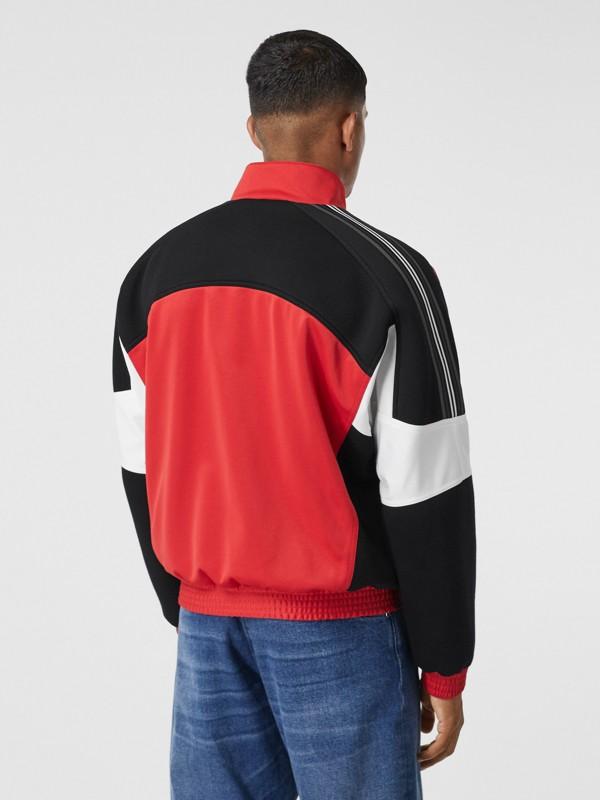 Veste de survêtement en jersey et néoprène avec logo appliqué (Rouge Vif) - Homme | Burberry - cell image 2