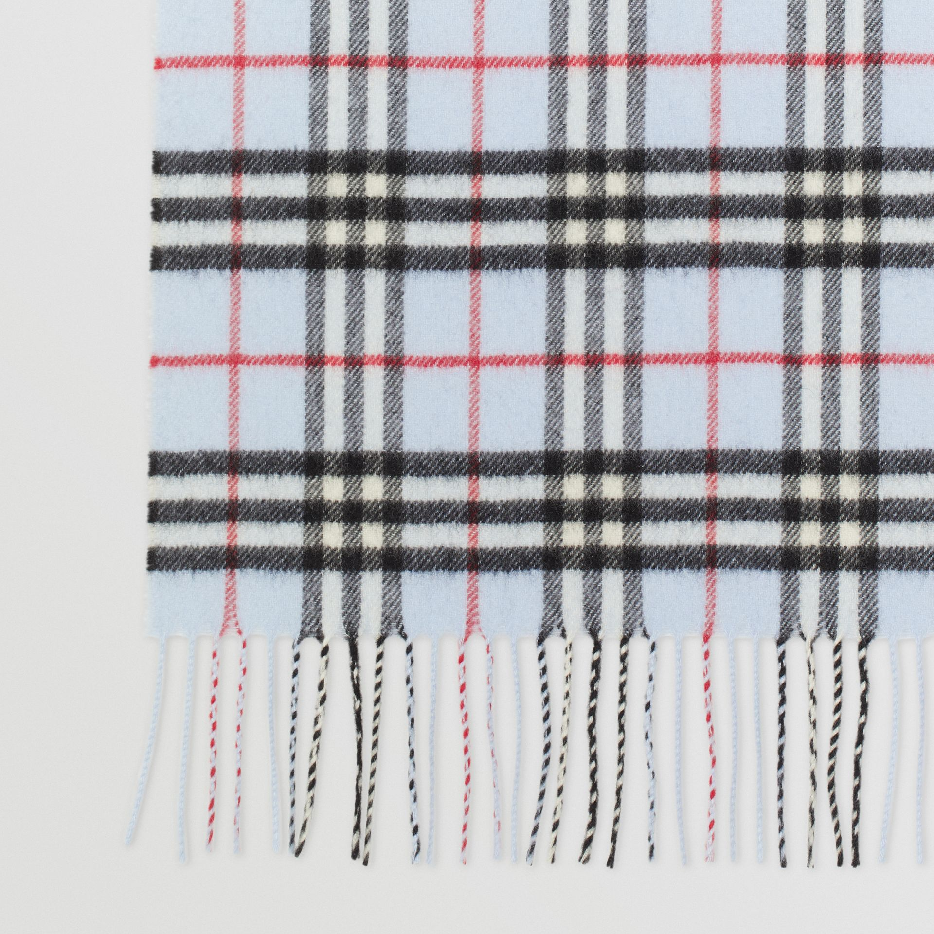 The Classic Vintage Check Cashmere Scarf in Pale Blue | Burberry - gallery image 1