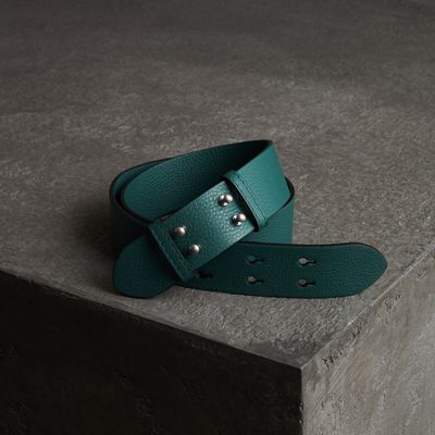 Gürtel Aus Genarbtem Leder Für The Small Belt Bag in Green